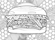 National Hamburger Month Coloring Contest - Double Meat Whataburger