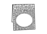 National Hamburger Month Coloring Contest - table tent