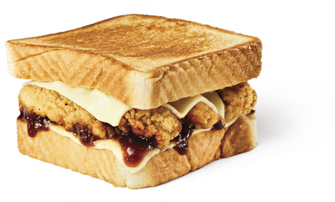Honey BBQ Chicken Strip Sandwich