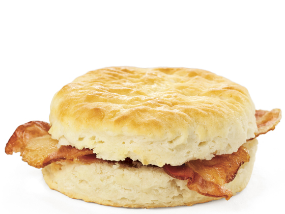 Biscuit with Bacon