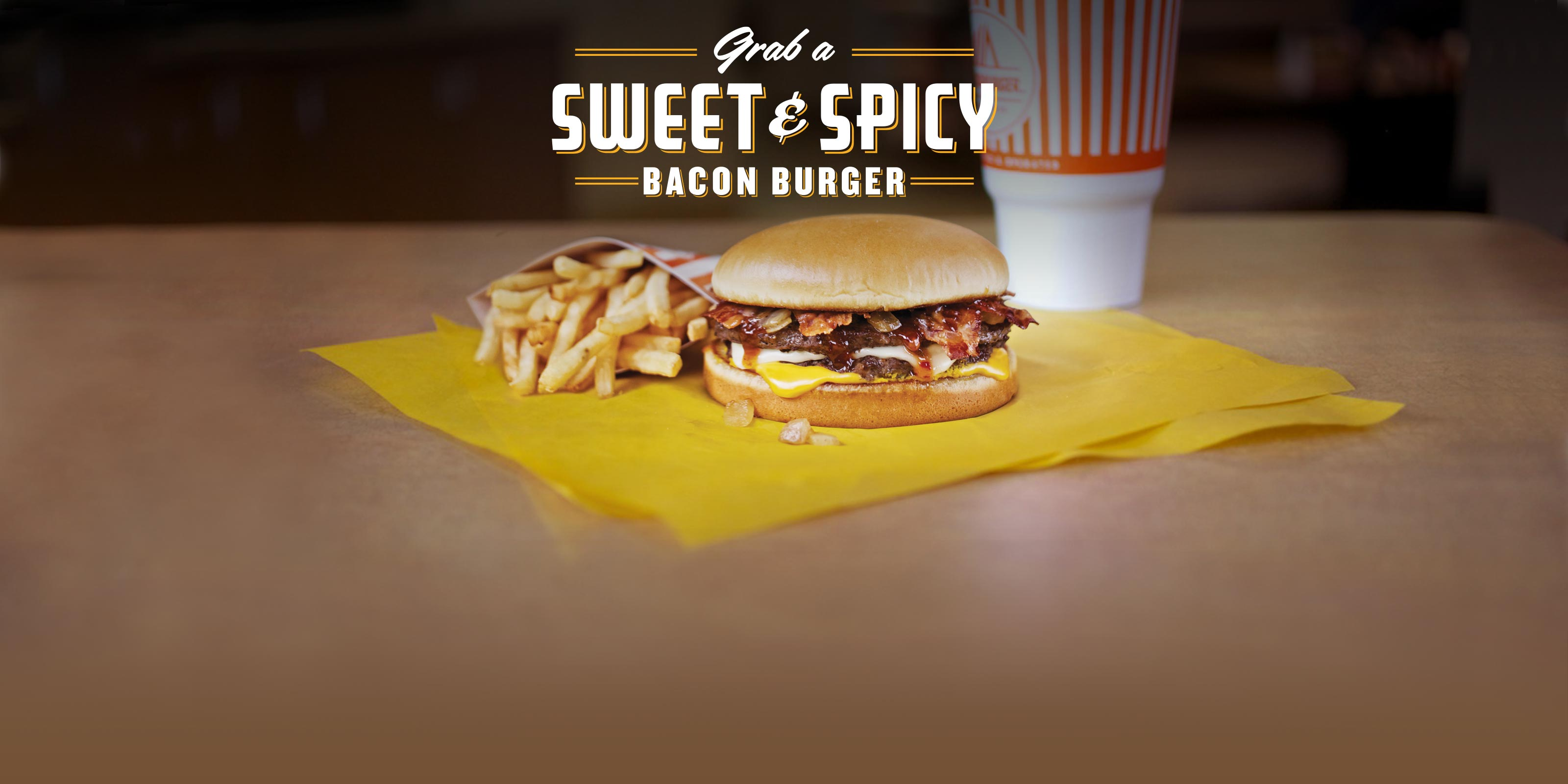 Sweet and Spicy Bacon Burger