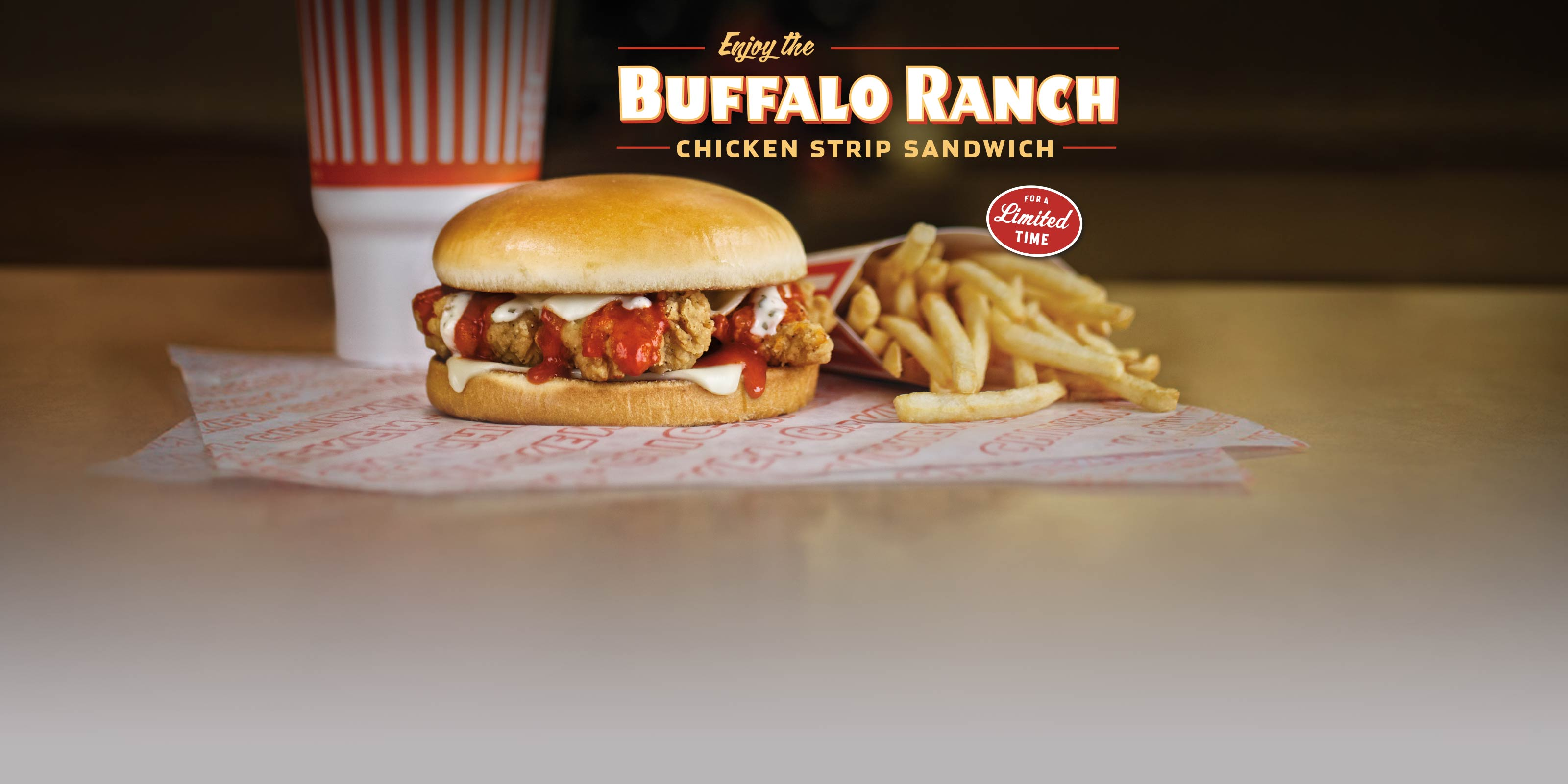 Buffalo Ranch Chicken Strip Sandwich